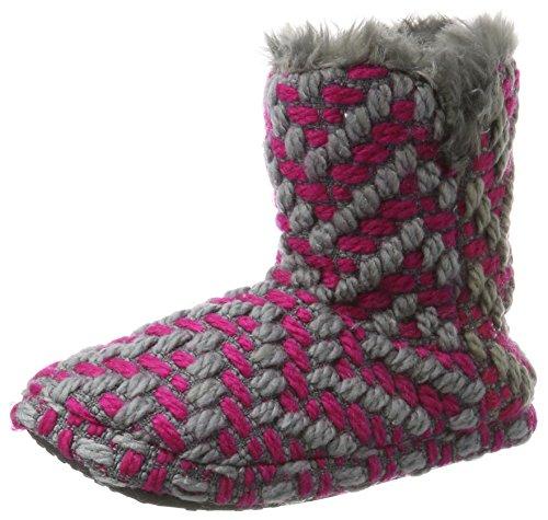 ESPRIT Damen Knitty Bootie Hohe Hausschuhe, Pink (Dark Pink), 40 EU (Hohe Bootie)