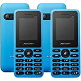 (Pack Of Two) - Adcom A101 Voice Changer Mobile Phone (1.77 Inch Display, Dual Sim, 800 MAH Battery, Blue)