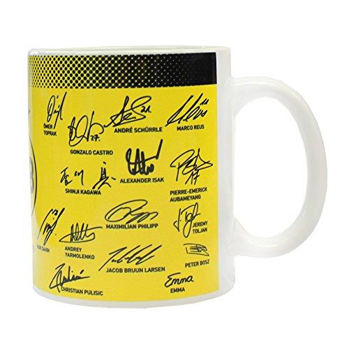 Borussia Dortmund Keramiktasse mit Unterschriften, Saison 17/18, 0,3l one size