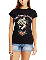 rock icon rolling stones herren t shirt spray tongue. Black Bedroom Furniture Sets. Home Design Ideas