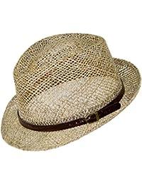 EveryHead Fiebig Cappello Di Paglia Da Uomo Paglietta Seagrass Trilby  Fedora Coneflower Estate Vacanza Giardiniere Con 1ddc014fb3b9