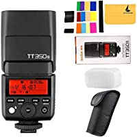 Godox TT350S Mini 2.4G TTL HSS 1/8000S GN36 Inalambrico Camara Speedlite Flash para Sony A7 A7R A7RII A58 A99 A6000 A6500 Camara + Regalo Blanco Caja Suave +Letwing Paño (TT350S)