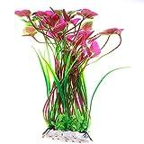 Gogogo Aquarium Dekor PVC Fischtank Künstliche Pflanze Unterwasser Gras Pflanze 40 cm lang Violett