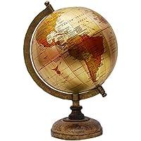 Grande decorativo girevole mondo geografia terra Home Decor, Legno, Gold-2,