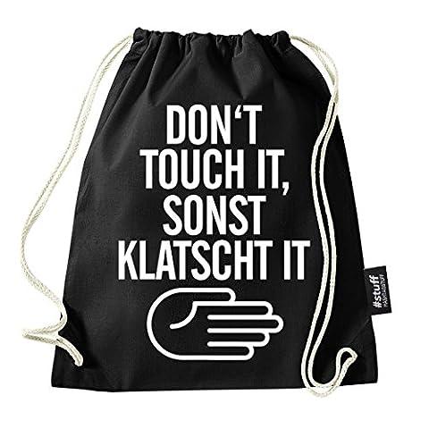 HASHTAGSTUFF® Turnbeutel mit Spruch / verschiedene Sprüche & Designs auswählbar / Beutel: Schwarz / Rucksack / Jutebeutel / Sportbeutel /