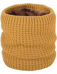 161233e56468 KaloryWee écharpe amoureux accessoire châle Cercle Capot snood chaud tricot  coton couleur pure cachemire laine enrouler
