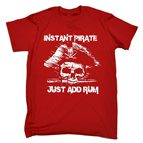 123t-Mens-Instant-Pirate-Just-Add-Rum-T-SHIRT-Funny-Christmas-Casual-Birthday-Tee