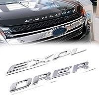 1 مجموعة رياضية كروم الفضة الجبهة هود رفرف 3D أحرف EXPLORER ملصقات سيارة فورد 2011-2019