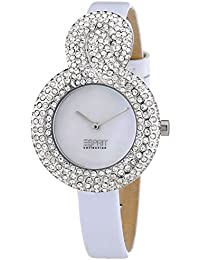 Esprit Collection Women's Quartz Watch with White Dial Analogue Display and XS Danae EL101182F02 Leather