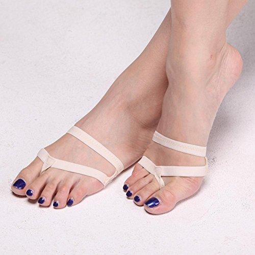 Erwachsene Bauch Ballett Tanzen Schuhe Weich Sohlen Hälfte Zehenpolster Fitness Trainieren Einlegesohlen Neutral 3Er Packung . Skin Color . (Plus Kostüm Bauchtänzerin Size)