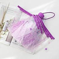Paraguas transparente Portable Folding sombrilla paraguas,Violeta