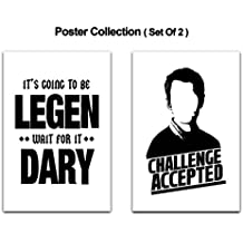 Mc Sid Razz - [ How I met Your Mother ] Pack of 2 Poster Without Frame (Legendary + Challenge Accepted)