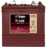 Trojan T-105, batería de ciclo profundo 6V, 225 AH@C20 MASTER-VENT
