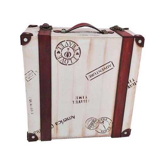 Caja en forma de maleta antigua