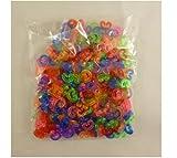 300 Multi Colour C-Clips für Making Loom Band Armbänder - Loom Bänder Zubehör