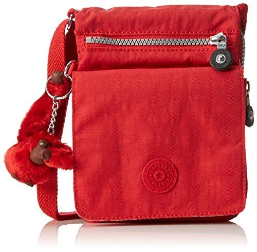 Kipling Eldorado, Borsa a Tracolla Donna, Rosso (REF35J Vibrant Red), 15x19.5x2 cm (B x H x T)
