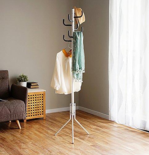 MOJ-YJ Moderne 8 Haken Tall Metal Coat Stand und Hut Display Hall Tree Hanger mit Schutz Anti-Tearing Caps Füße für Home Office Flur - Tree Coat