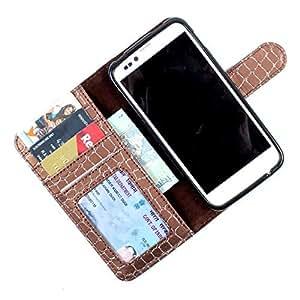 For Karbonn A21 - PU Leather Wallet Flip Case Cover