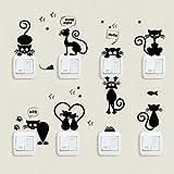 Sfondo,OHQ MODA Prima Infanzia Cameretta Decorazioni Murali Sticker Da Muro Bello Gatto Interruttore Luce Adesivi Per La Casa Animali Del Fumetto Decalcomania Art