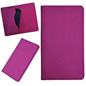 DCR Pu Leather case cover for Asus Zenfone 5 Lite A502cg (pink)