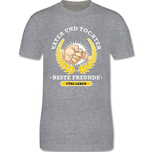 Vatertag - Vater und Tochter - beste Freunde fürs Leben - Herren Premium T-Shirt Grau Meliert