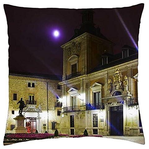 Plaza de la Villa, Madrid,Espaa - Throw Pillow Cover Case (18