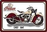 Schatzmix Indian Chief 1947 40PS Motorrad, Motor Bike, Motorcycle blechschild