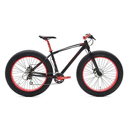 """VERTEK - Bicicleta """"Fat bike"""", para chicos, de aluminio, neumáticos: 26x 4pulgadas, 24velocidades"""