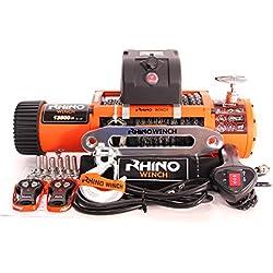 Rhino - Treuil électrique - télécommande sans fil - câble Dyneema/plus dur que l'acier - 12 V - 6125 kg