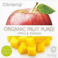 Clearspring Orgánica de manzana y puré de mango 2 x 100 g