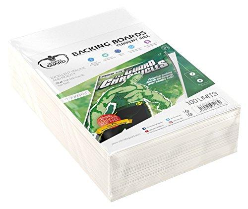 100 backing boards rigidos y de alta calidad para archivar y proteger los comics de dobladuras-100% libre de acidos (certificado)- Excelente estabilidad y volumen- Min. 26 pt. de grosor.- Min. 7% de carbonato de calcio. - Revestimiento completo front...