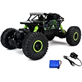 Jaynil Enterprise™ Waterproof Dirt Drift Rock Crawler Remote Controlled RC Monster Truck, Four Wheel Drive, 1:18 Scale 2.4 GHZ, Green