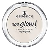 Essence soo glow! cream to powder highlighter Nr. 10 look on the bright side Inhalt: 4g Highlighter Cream to Powder mit leichtem Schimmer - für ein natürliches, strahlendes Finish. Highlighterpowder-Cream.