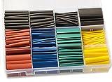 530 Stück Premium Schrumpfschlauch Set Schrumpfschläuche Sortiment Verhältnis 3:1 Schrumpfschlauch mit 12 Größen Heat Shrink Tube Wire Wrap von Modellbau Eibl