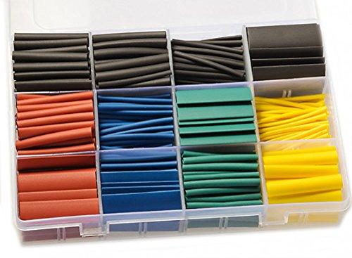 530 Stück Premium Schrumpfschlauch Set Schrumpfschläuche Sortiment Verhältnis 3:1 Schrumpfschlauch mit 12 Größen Heat Shrink Tube Wire Wrap von Modellbau Eibl®