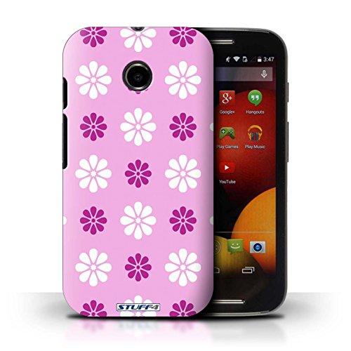 Kobalt® Imprimé Etui / Coque pour Motorola Moto E (2014) / Rose conception / Série Motif avec pétales Rose