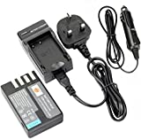 DSTE® D-Li109 Li109 Rechargeable Li-ion Battery + DC112U Travel and Car Charger Adapter for Pentax K-r K-30 K-50 K-500 Camera