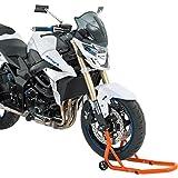 Motorrad Montageständer Hi-Q Tools Montageständer vorne Gabel, für Servicearbeiten wie z. B. Reifenwechsel, Felge reinigen, Überwinterung, passend für Modelle mit Ertiefungen in den Gabelenden