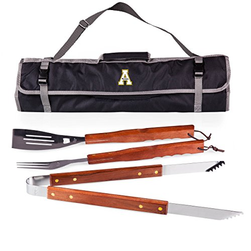 Picnic Time NCAA Appalachian State Bergsteiger Grillbesteck 3-teilig mit Tote -