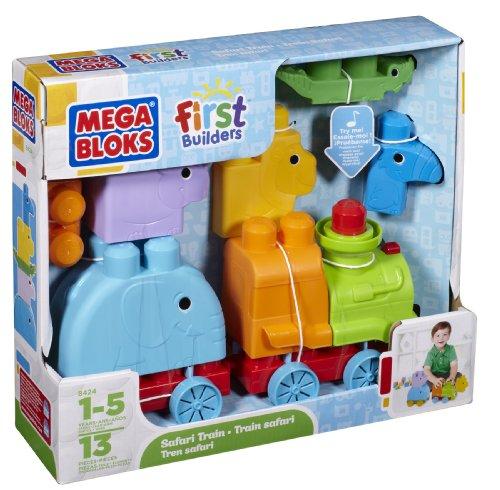 Mega Bloks 8424 First Builders Animales Tren Safari
