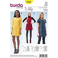 Burda 6721 Schnittmuster Träger-Kleid ausgestellt (Damen, Gr. 34 - 44) Level 1 super easy