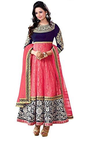 shivsham fab Brasso Saree (mahi pink_Pink_Free Size)