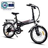 Speedrid Velo electriquer, 26/20 pneus Vélo électrique pour vélo Ebike avec Moteur sans Balai de 250 W et Batterie au Lithium 36V 8Ah Shimano 21/7 Vitesses (Délai de Livraison 5-7 Jours)