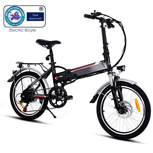 Speedrid Velo electriquer vélo électrique, 26/20 pneus Vélo électrique pour vélo Ebike avec Moteur sans Balai de 250 W et Batterie au Lithium 36V 8Ah Shimano 21/7 Vitesses