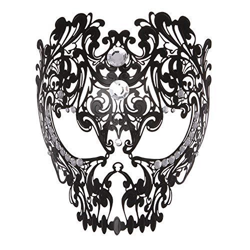 Hnks-AC Maskerade-Maske Maske italienische High-End-Maske Damen Prinzessin Maske Vollgesichts-Emaille Metall-verkrustete Hohle Nachtclub Party Cosplay Maskerade Maske Für Dance Cosplay