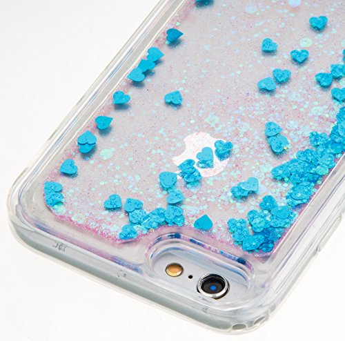 For iPhone 6 4.7[CUTE SPARKLING]Novelty Creative Liquid Glitter Design Liquid Quicksand Bling Adorable Flowing Floating Moving Shine Glitter Case -PURPLE EIFFEL BLUE