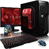 """Vibox Standard 3X - Ordenador de sobremesa (AMD A8 Quad-Core, 8 GB de RAM, 2000 GB, AMD Radeon R7, no operating system), color negro - kit con monitor de 22"""""""