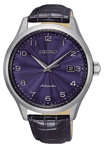 Seiko Herren Analog Automatik Uhr mit Leder Armband SRPC21K1