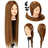 Kid Connection - Testa artificiale con capelli, per esercitazione, per aspiranti parrucchieri, 65 cm