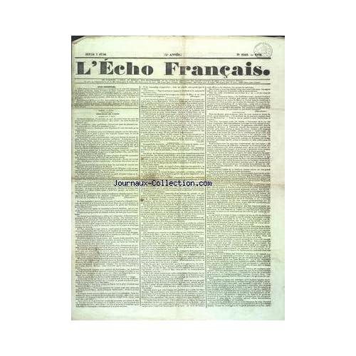 ECHO FRANCAIS (L') [No 1223] du 07/06/1932 - TROUBLES DE PARIS - LIBERTE DE LA PRESSE - EN VENDEE - RAPPORT DU ROI